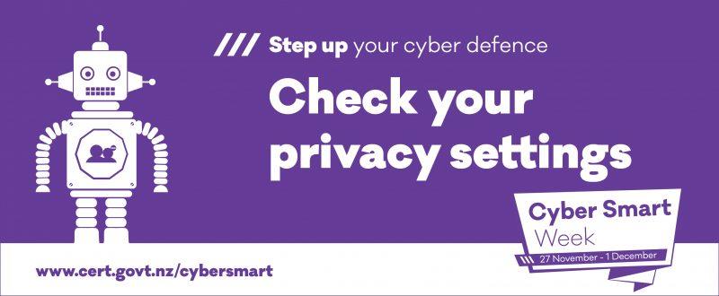 phew cyber smart week 2017 privacy settings