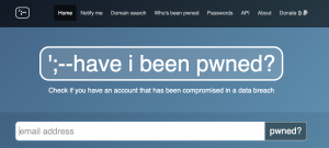 phew cyber security scam have i been pwned